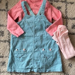 Light blue pinafore outfit 12 months